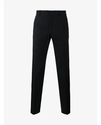 Dolce And Gabbana Cotton Wool Blend Tailored Trousers Grey White