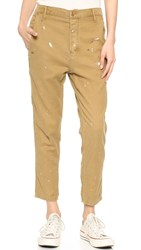 The Great. The Mister Slouch Trousers Khaki With Paint