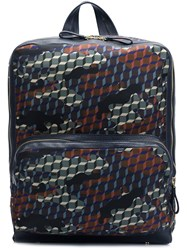 Pierre Hardy Forest Camocube Printed Backpack Black