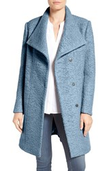 Kenneth Cole Women's New York Pressed Boucle Coat Periwinkle