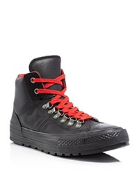 Converse Chuck Taylor All Star Street Hiker Leather Boots Black Red