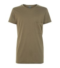 Lot 78 Scoop Pocket Solid T Shirt Male Olive