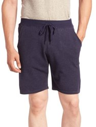 Saks Fifth Avenue Solid Drawstring Shorts Marled Blue
