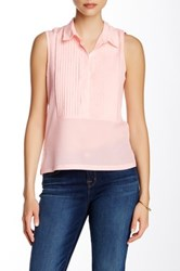 French Connection Pleat Front Collar Tank Pink