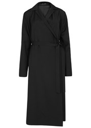 Each X Other Black Wrap Coat