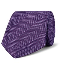 Turnbull And Asser 8Cm Silk Jacquard Tie Purple
