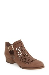 Vince Camuto Women's 'Cadey' Cutout Bootie Smoke Taupe Nubuck Leather