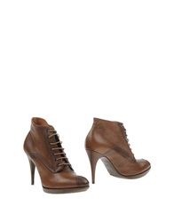 Diesel Black Gold Ankle Boots Brown