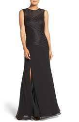 Js Collections Women's Mixed Media Gown Black