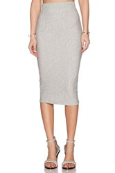 James Perse Classic Fleece Skirt Light Gray
