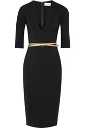 Victoria Beckham Stretch Cotton Blend Cady Dress Black