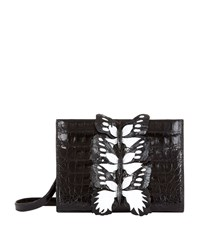Nancy Gonzalez Butterfly Clutch Bag Female Black