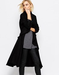 Religion Freedom Black Wool Coat Black Option 2