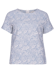 Sugarhill Boutique Floral Jacquard Tee Blue