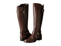 Naturalizer Joan Wide Calf Oxford Brown Leather Women's Wide Shaft Boots