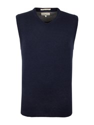 Racing Green Men's Trent V Neck Merino Vest Navy