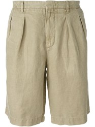 Z Zegna Frilled Waist Shorts Nude And Neutrals