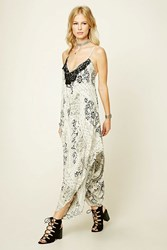 Forever 21 Ornate Print V Neck Jumpsuit