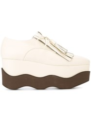 Paloma Barcelo 'Benidorn Peru' Wedge Loafers Nude And Neutrals