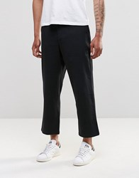 Religion Frequency Wide Leg Chinos Black