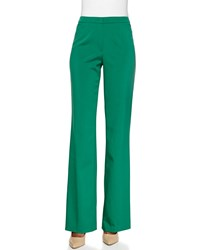 Escada Flat Front Boot Cut Pants Women's