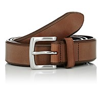 Barneys New York Men's Leather Belt Tan