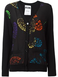 Moschino Shoe Print Cardigan Black