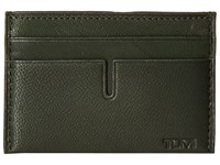 Tumi Chambers Slim Card Case Hunter Credit Card Wallet Green