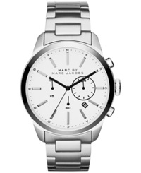 Marc By Marc Jacobs Men's Chronograph Dillon Stainless Steel Bracelet Watch 44Mm Mbm5093