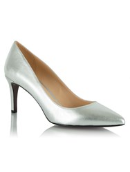Daniel Maturity Leather Pointed Court Shoes Metallic