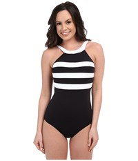 Seafolly Block Party Dd Maillot Black Women's Swimsuits One Piece