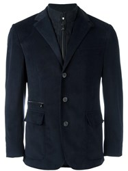 Corneliani Zipped Inset Blazer Blue