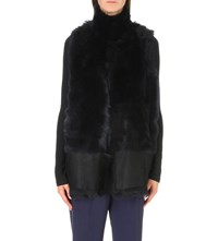 Karl Donoghue Reversible Faux Fur And Leather Gilet Eclipse