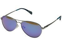 Toms Kilgore Silver Blue Mirror Fashion Sunglasses