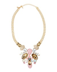 Greenbeads By Emily And Ashley Antique Bib Necklace Pink