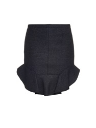 Isabel Marant Frill Hem Wool Blend Mini Skirt