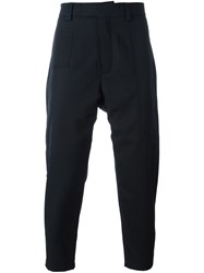 Oamc Drop Crotch Trousers Blue