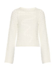See By Chloe Crew Neck Cotton Sweater White