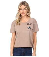 Obey Being Watched Dusty Taupe Women's Clothing Brown