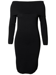 Selected Femme Mathlde Off Shoulder Dress Black