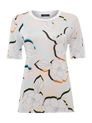 Paul Smith Floral Print T Shirt Multi Coloured