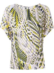 Lala Berlin Snakeskin Print Relaxed Fit T Shirt Multicolour
