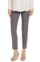 Eileen Fisher Petite Women's Stretch Crepe Ankle Pants Ash