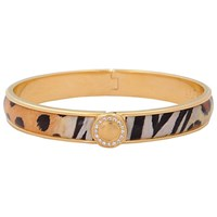 Halcyon Days Sparkle Button Bangle Animal Gold