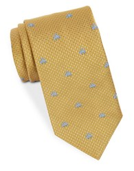 Brooks Brothers Neat Animal Patterned Tie Gold