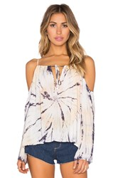 Blue Life Cold Shoulder Top Yellow