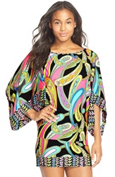Trina Turk 'Garden Paisley' Cover Up Tunic Black Multi