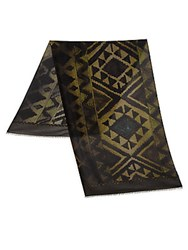 Roda Diamond Print Scarf Green