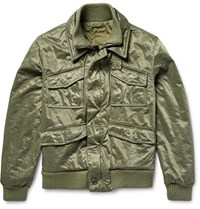 Aspesi Satin Twill Field Jacket Army Green