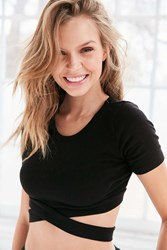 Truly Madly Deeply Crisscross Cropped Tee Black